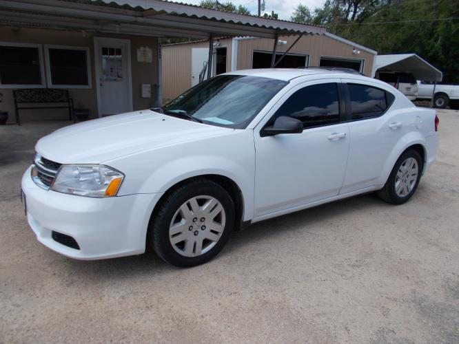 2014 WHITE DODGE AVENGER SE (1C3CDZAB3EN) with an 2.4L engine, Automatic transmission - Photo #0