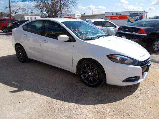 2016 WHITE DODGE DART SE SE (1C3CDFAA4GD) with an 2.0L engine, 6-Speed Manual transmission - Photo #8