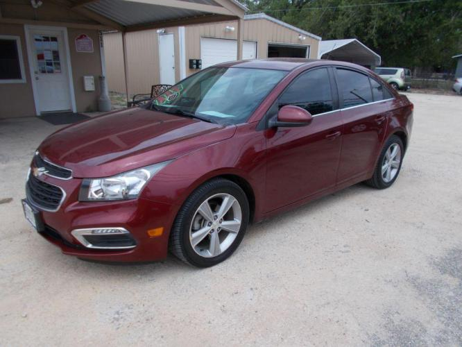 2015 MAROON CHEVROLET CRUZE 2LT (1G1PE5SB2F7) with an 1.4L engine, Automatic transmission - Photo #0