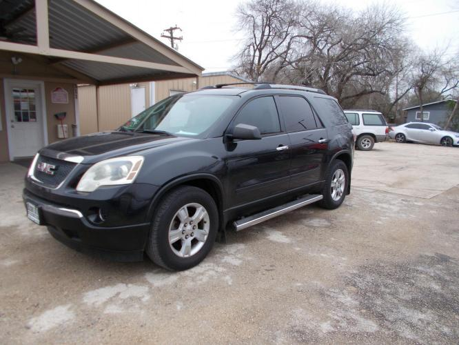 2011 BLACK GMC ACADIA SLE (1GKKRNED2BJ) with an 3.6L engine, Automatic transmission - Photo #0